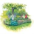 Турбаза Ринх, спортивно-оздоровительный лагерь Сосновый берег - иконка «сад» в Теберде